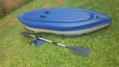 kayak canoa intex challenger k 1 inflable c/ remos alum+infl