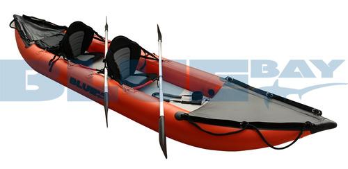 kayak inflable doble bluebay - mismo espesor que un zodiac.