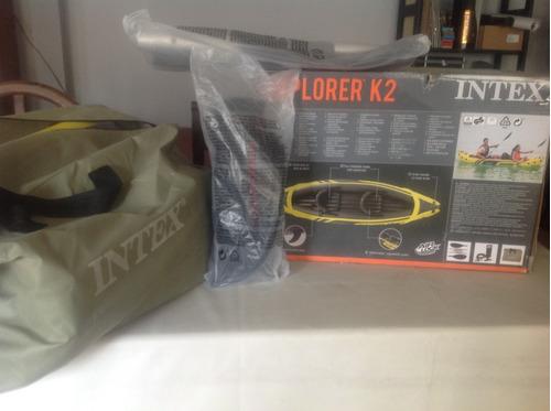 kayak intex inflables 2 personas sin uso