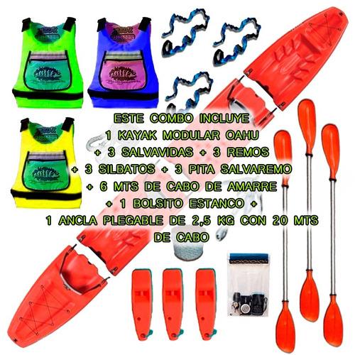 kayak modular triple oahu de sportkayaks c3 local en palermo