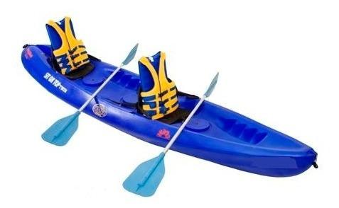 kayak polietileno naranja  alta resistencia con accesorios
