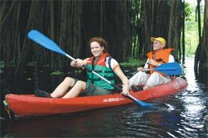 kayak polietileno rojo alta resistencia con sillas