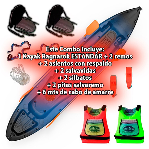 kayak ragnarok estandar de skandynavian c2 local palermo