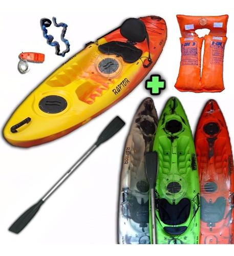 kayak rk raptor 1 persona c2 +remo + poncho en palermo