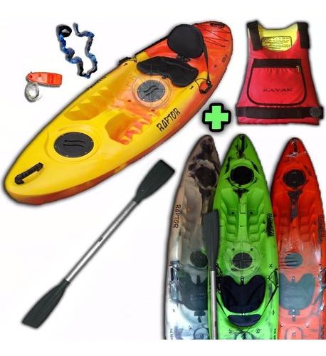 kayak rk raptor 1 persona c3 +remo + salvavidas freeterra