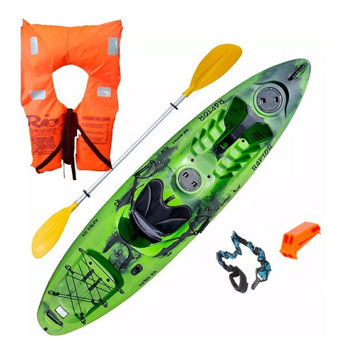 kayak rk raptor + accesorios c2 pesca palermo envio gratis