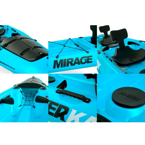 kayak rocker mirage 2 a 3 pers. c2 free terra, local palemo