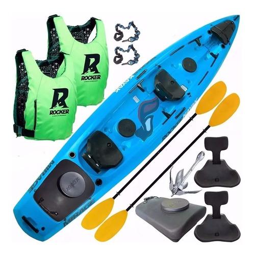 kayak rocker mirage 2 remo 2 salvavidas tambucho ancla pita