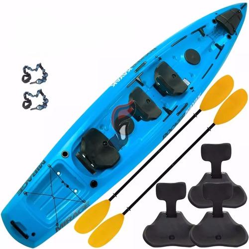 kayak rocker mirage 2 remos 3 butacas 2 pitas