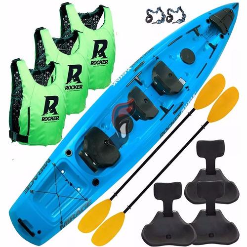 kayak rocker mirage 3 salvavidas 2 remos 3 butacas 2 pitas