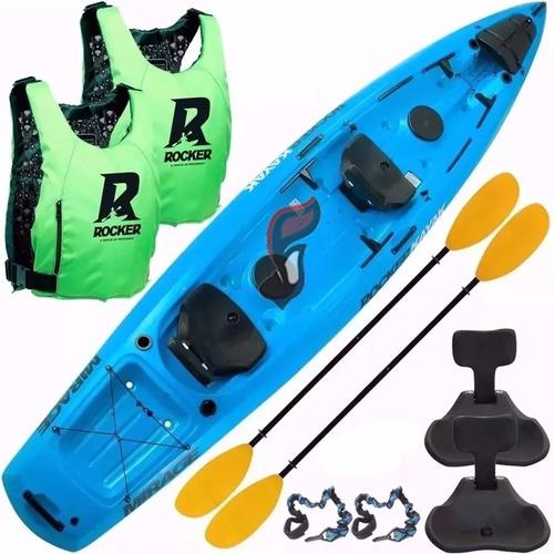kayak rocker mirage pesca asientos chalecos salvavidas remo