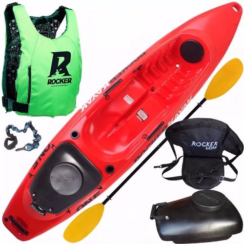 kayak rocker one asiento tambucho chaleco salvavidas pita