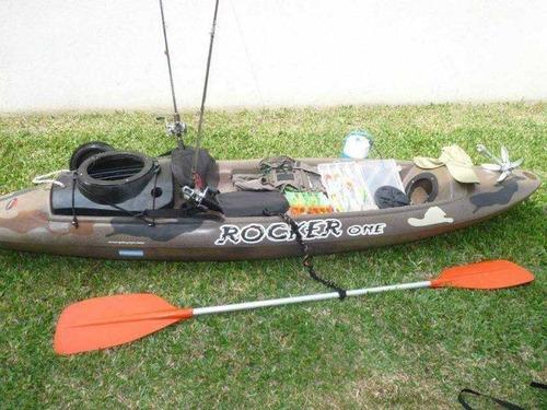 kayak rocker one c8 caja pesca. free terra, local en palermo