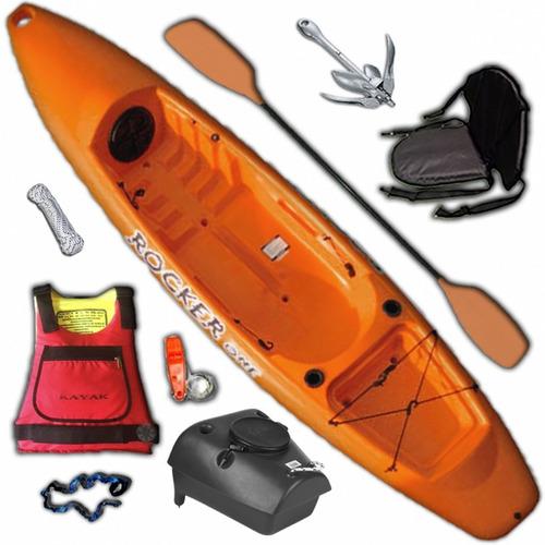 kayak rocker one para 1 persona combo 3 freeterra premium