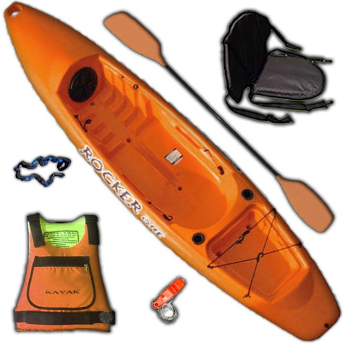 kayak rocker one para 1 persona combo 4 freeterra