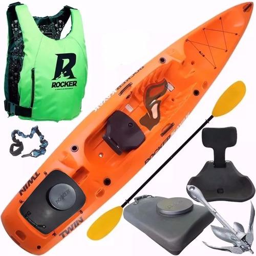 kayak rocker twin chaleco salvavida tambucho ancla butaca