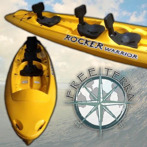 kayak rocker warrior 3 adultos c7 local con todas las marcas