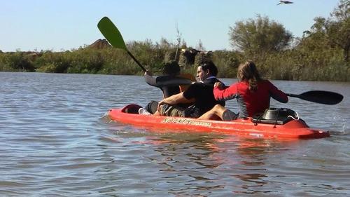 kayak rocker warrior 3 pers. butacas c8 local. envio gratis!