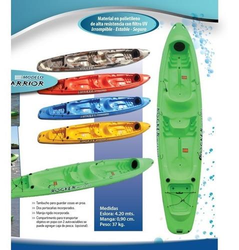 kayak rocker warrior 3 personas c5 free terra, local palermo