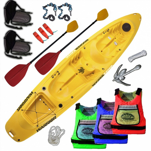 kayak rocker warrior 3 personas combo 3 todas las marcas