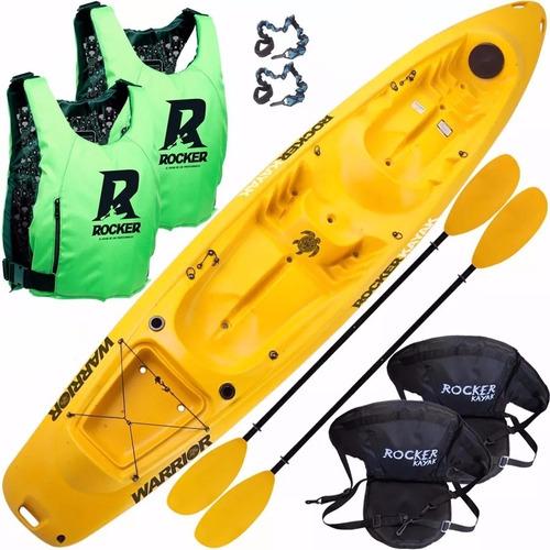 kayak rocker warrior triplo 2 chalecos 2 asientos san isidro