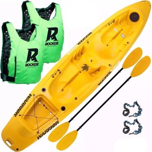 kayak rocker warrior triplo 2 chalecos 2 remos san isidro