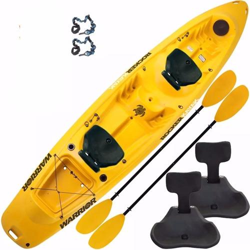kayak rocker warrior triplo 2 remos 2 asientos zona norte
