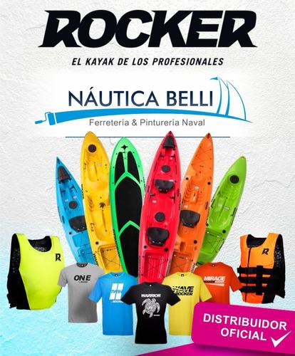 kayak rocker wave 1 persona - ideal pesca + remo