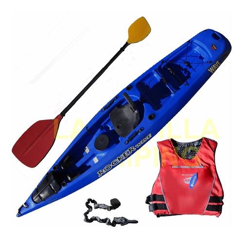 kayak rocker wave asiento rigido remo salvavida bolso