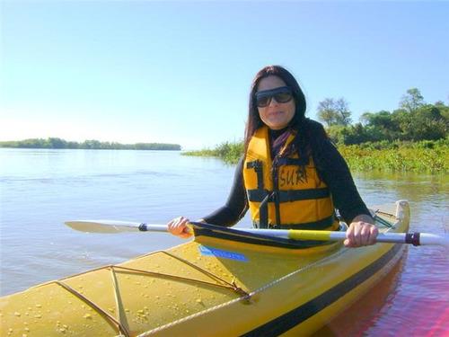kayak single travesía 4,30 m super especial baum con remo