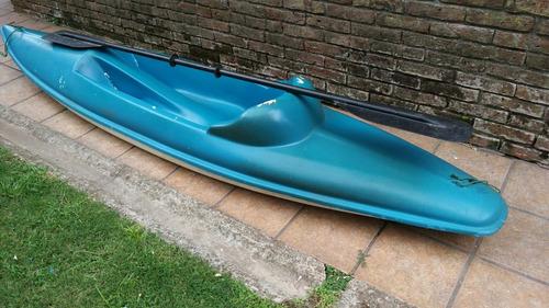 kayak sioux de fibra con remos poco uso
