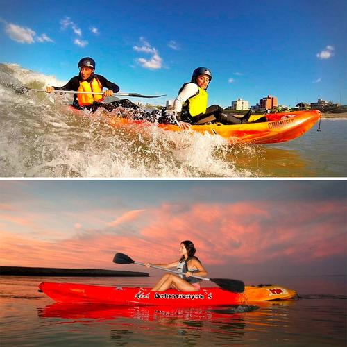 kayak triplo atlantikayak pesca 1 2 3 personas mar rio lago