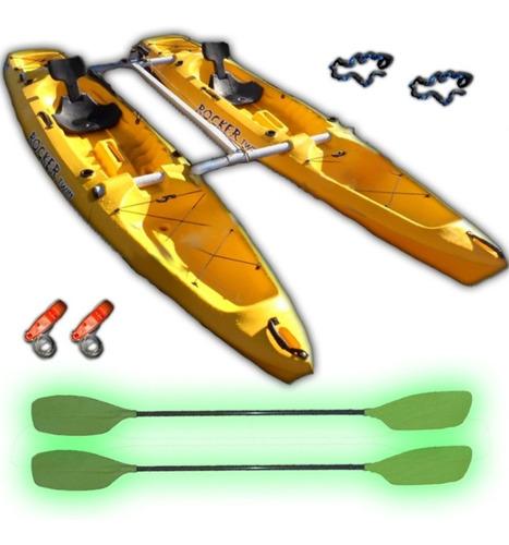 kayaks rocker twin + kit catamaran c5 local envio gratis!!