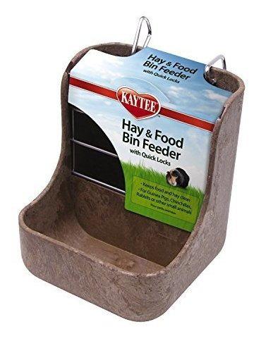 kaytee bandejas de alimentos comedero chinchilla heno