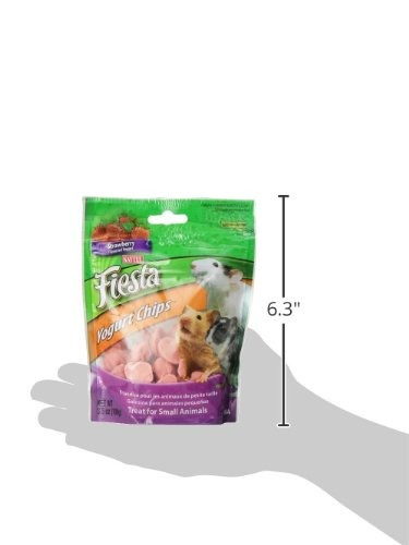 kaytee fiesta strawberry yogurt chips pequeño animal treat