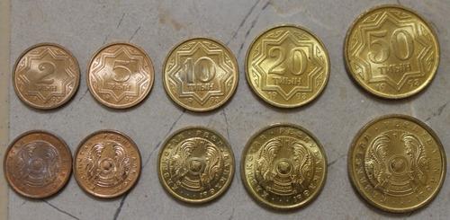 kazajastan, asia, juego de 5 monedas bu