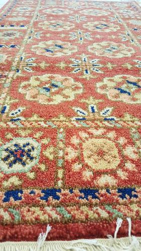 kazak fino 130x70cm artesanal legitimo tapete persa +certif