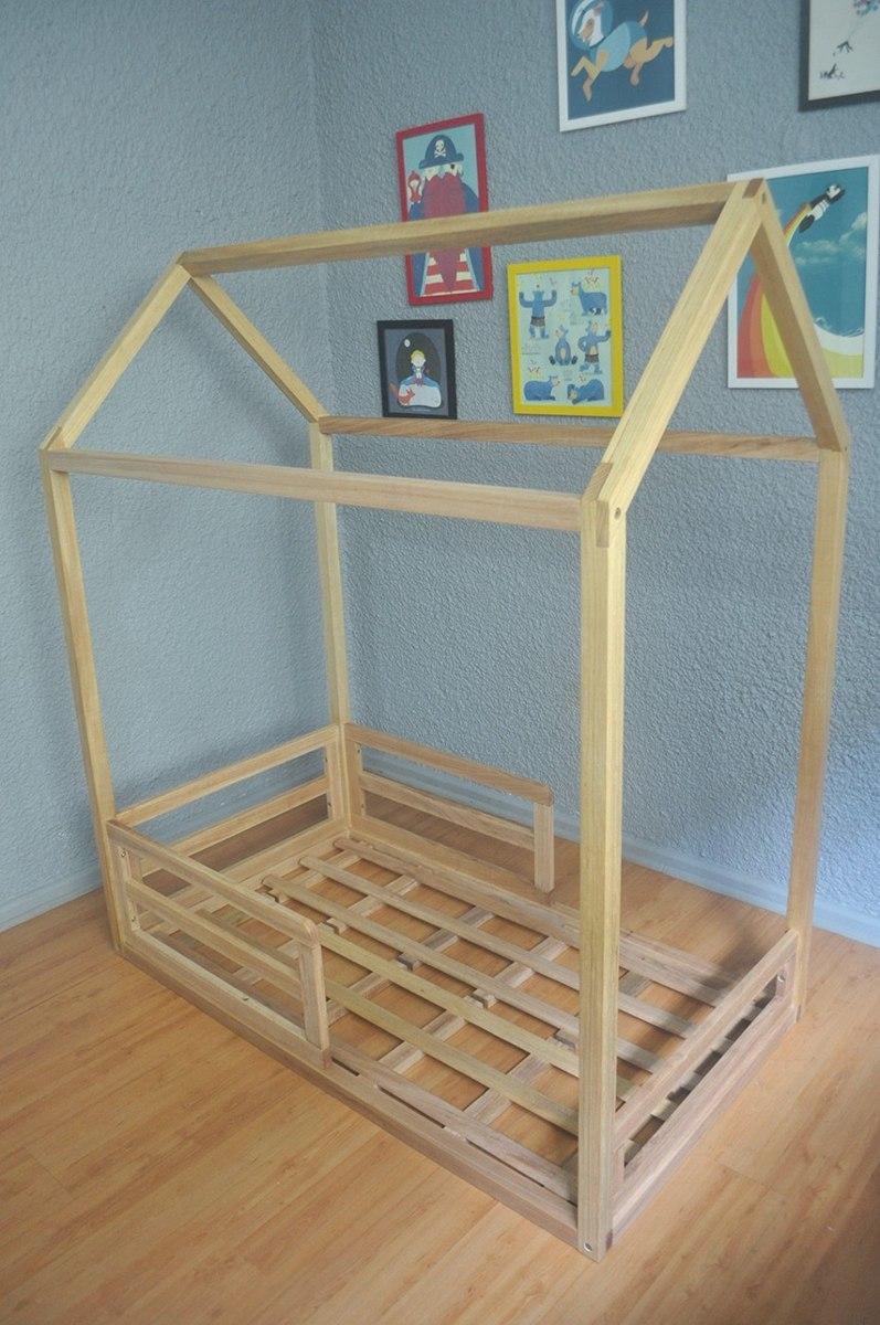 Kazakama kraft wrk cama casinha montessori tamanho kids r em mercado livre - Medidas de camas infantiles ...