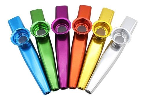 kazoo flauta con 5 de membrana de metal para beginner azul