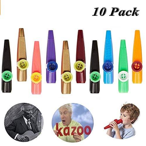 kazoo - hofire 10 pcs assorted color plastic kazoos musical