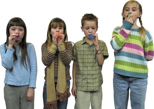 kazoo - hofire 10 piezas de color surtido de plástico kazoo