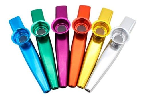 kazoo instrumento de sopro efeito blues metal varias cores