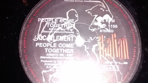 kc element people come together vinilo maxi italy