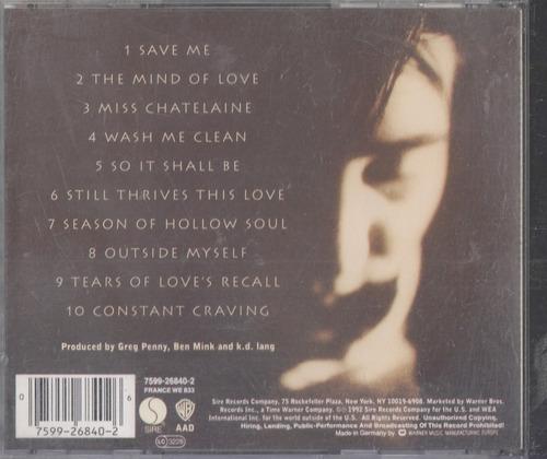 k.d lang. ingenue. cd original usado a4