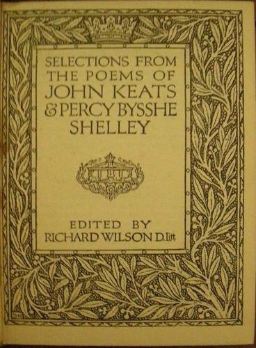 keats, john; shelley, percy bysshe -  selection from the poe