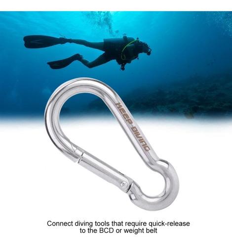 keep diving - mosquetón con mosquetón para equipo de buceo,