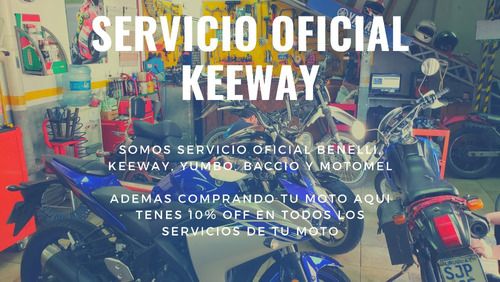 keeway rkg 125 - casco de regalo - 100% financiada - permuto