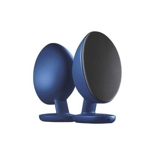 kef - egg altavoces inalámbricos (par) - azul