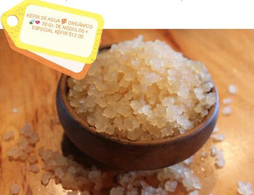 kefir de agua ¿ orgánico ¿¿¿ 40 gr. de nódulos