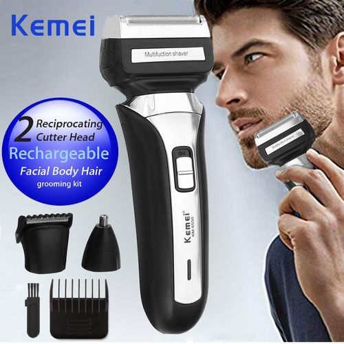 kemei aparador de cabelo elétrico clipper homens nariz barbe